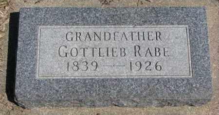 RABE, GOTTLIEB - Yankton County, South Dakota | GOTTLIEB RABE - South Dakota Gravestone Photos