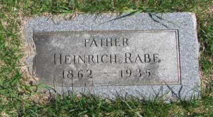 RABE, HEINRICH - Yankton County, South Dakota | HEINRICH RABE - South Dakota Gravestone Photos