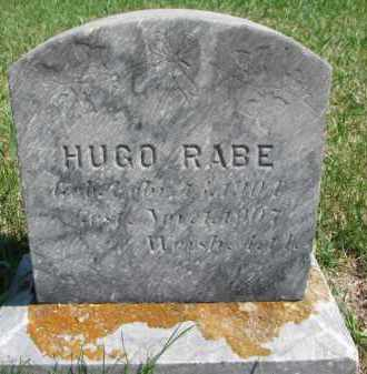 RABE, HUGO - Yankton County, South Dakota   HUGO RABE - South Dakota Gravestone Photos