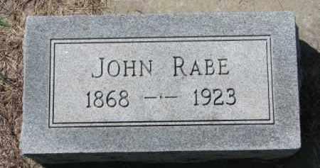 RABE, JOHN - Yankton County, South Dakota   JOHN RABE - South Dakota Gravestone Photos