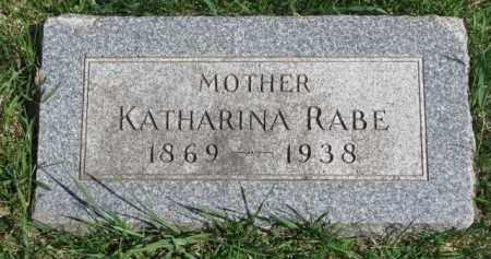 RABE, KATHARINA - Yankton County, South Dakota   KATHARINA RABE - South Dakota Gravestone Photos