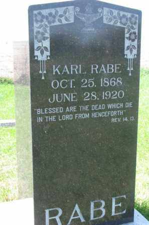 RABE, KARL - Yankton County, South Dakota | KARL RABE - South Dakota Gravestone Photos