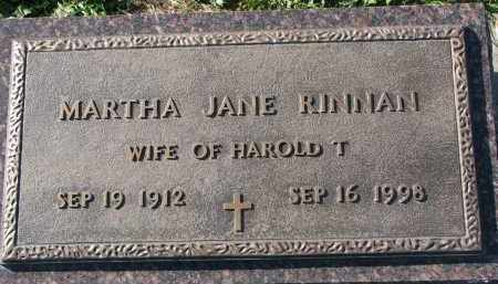 RINNAN, MARTHA JANE - Yankton County, South Dakota | MARTHA JANE RINNAN - South Dakota Gravestone Photos