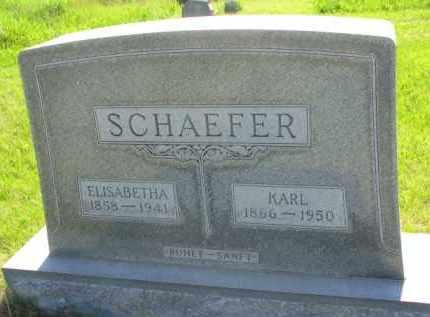 SCHAEFER, KARL - Yankton County, South Dakota | KARL SCHAEFER - South Dakota Gravestone Photos