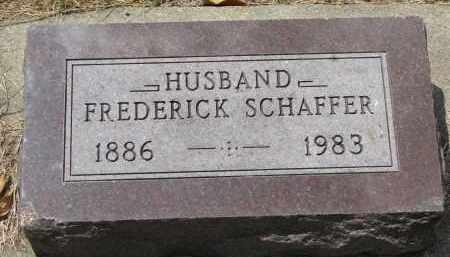 SCHAFFER, FREDERICK - Yankton County, South Dakota   FREDERICK SCHAFFER - South Dakota Gravestone Photos