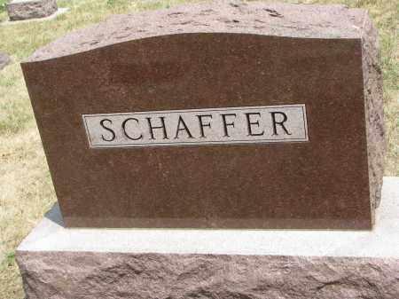 SCHAFFER, FAMILY STONE - Yankton County, South Dakota | FAMILY STONE SCHAFFER - South Dakota Gravestone Photos