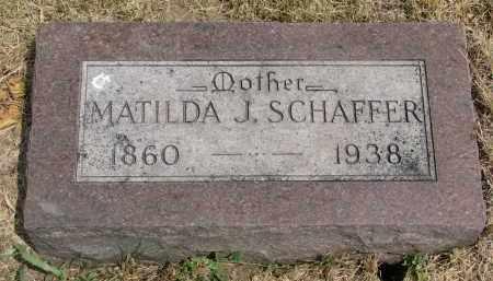 SCHAFFER, MATILDA J. - Yankton County, South Dakota | MATILDA J. SCHAFFER - South Dakota Gravestone Photos