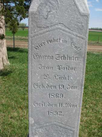SCHLITTER, EMMA - Yankton County, South Dakota | EMMA SCHLITTER - South Dakota Gravestone Photos
