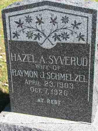 SYVERUD SCHMELZEL, HAZEL A. - Yankton County, South Dakota   HAZEL A. SYVERUD SCHMELZEL - South Dakota Gravestone Photos