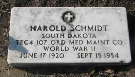 SCHMIDT, HAROLD - Yankton County, South Dakota | HAROLD SCHMIDT - South Dakota Gravestone Photos