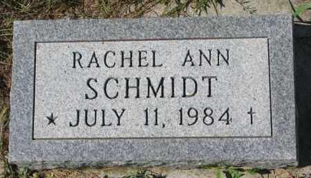SCHMIDT, RACHEL ANN - Yankton County, South Dakota | RACHEL ANN SCHMIDT - South Dakota Gravestone Photos
