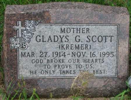 SCOTT, GLADYS G. - Yankton County, South Dakota | GLADYS G. SCOTT - South Dakota Gravestone Photos