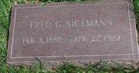 SICKMANN, FRED G. - Yankton County, South Dakota | FRED G. SICKMANN - South Dakota Gravestone Photos