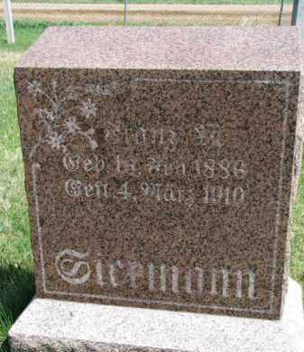 SICKMANN, FRANZ M. - Yankton County, South Dakota | FRANZ M. SICKMANN - South Dakota Gravestone Photos