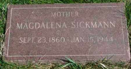 SICKMANN, MAGDALENA - Yankton County, South Dakota | MAGDALENA SICKMANN - South Dakota Gravestone Photos