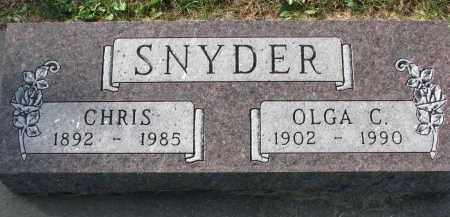 SNYDER, CHRIS - Yankton County, South Dakota | CHRIS SNYDER - South Dakota Gravestone Photos