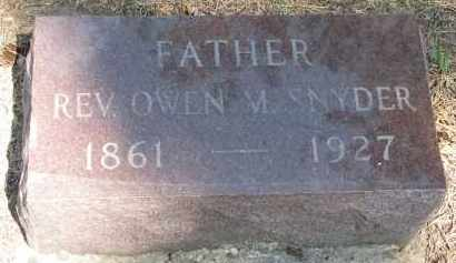SNYDER, OWEN M. (REV.) - Yankton County, South Dakota | OWEN M. (REV.) SNYDER - South Dakota Gravestone Photos