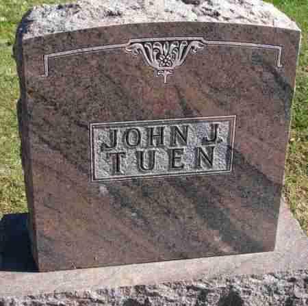 TUEN, JOHN J. - Yankton County, South Dakota   JOHN J. TUEN - South Dakota Gravestone Photos