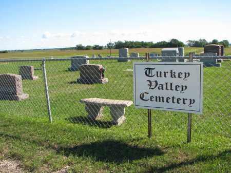 *TURKEY VALLEY LUTHERAN, SIGN AT WEST GATE - Yankton County, South Dakota   SIGN AT WEST GATE *TURKEY VALLEY LUTHERAN - South Dakota Gravestone Photos
