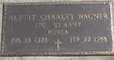 WAGNER, ALBERT CHARLES (MILITARY) - Yankton County, South Dakota | ALBERT CHARLES (MILITARY) WAGNER - South Dakota Gravestone Photos