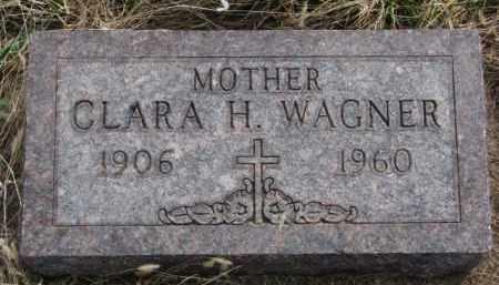 WAGNER, CLARA H. - Yankton County, South Dakota | CLARA H. WAGNER - South Dakota Gravestone Photos