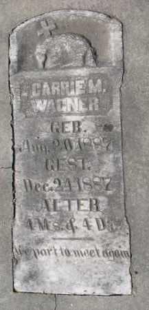 WAGNER, CARRIE M. - Yankton County, South Dakota | CARRIE M. WAGNER - South Dakota Gravestone Photos