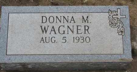 WAGNER, DONNA M. - Yankton County, South Dakota   DONNA M. WAGNER - South Dakota Gravestone Photos