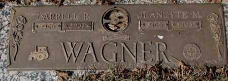 WAGNER, DARRELL R. - Yankton County, South Dakota | DARRELL R. WAGNER - South Dakota Gravestone Photos