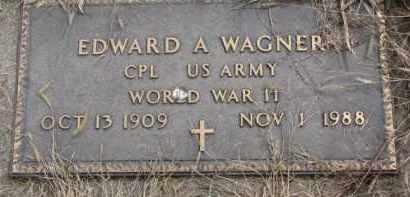 WAGNER, EDWARD A. (WW II) - Yankton County, South Dakota | EDWARD A. (WW II) WAGNER - South Dakota Gravestone Photos
