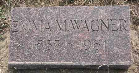 WAGNER, EMMA M. - Yankton County, South Dakota   EMMA M. WAGNER - South Dakota Gravestone Photos