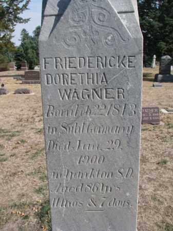 WAGNER, FRIEDERICKE DORETHIA (CLOSEUP) - Yankton County, South Dakota   FRIEDERICKE DORETHIA (CLOSEUP) WAGNER - South Dakota Gravestone Photos