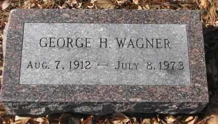WAGNER, GEORGE H. - Yankton County, South Dakota | GEORGE H. WAGNER - South Dakota Gravestone Photos