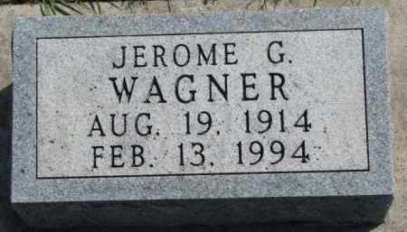 WAGNER, JEROME G. - Yankton County, South Dakota   JEROME G. WAGNER - South Dakota Gravestone Photos