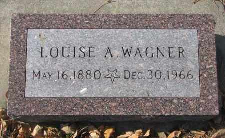 WAGNER, LOUISE A. - Yankton County, South Dakota   LOUISE A. WAGNER - South Dakota Gravestone Photos