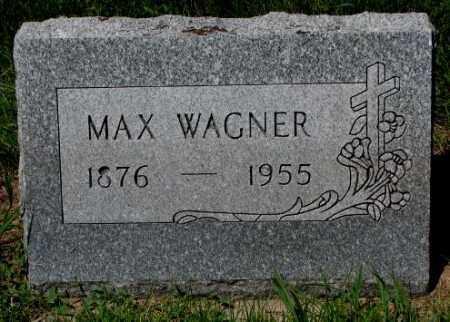 WAGNER, MAX - Yankton County, South Dakota   MAX WAGNER - South Dakota Gravestone Photos