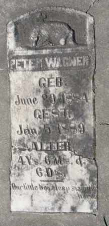 WAGNER, PETER - Yankton County, South Dakota | PETER WAGNER - South Dakota Gravestone Photos