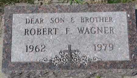 WAGNER, ROBERT F. - Yankton County, South Dakota   ROBERT F. WAGNER - South Dakota Gravestone Photos