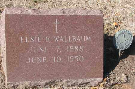 WALLBAUM, ELSIE B. - Yankton County, South Dakota | ELSIE B. WALLBAUM - South Dakota Gravestone Photos