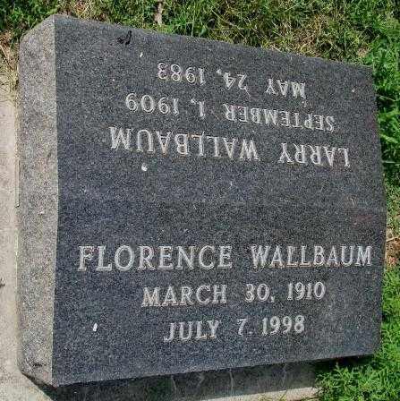 WALLBAUM, FLORENCE - Yankton County, South Dakota   FLORENCE WALLBAUM - South Dakota Gravestone Photos