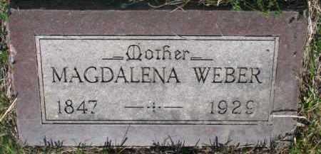 WEBER, MAGDALENA - Yankton County, South Dakota | MAGDALENA WEBER - South Dakota Gravestone Photos