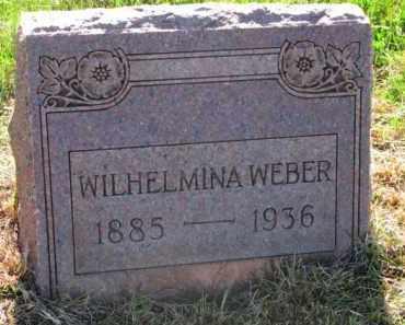 WEBER, WILHELMINA - Yankton County, South Dakota | WILHELMINA WEBER - South Dakota Gravestone Photos