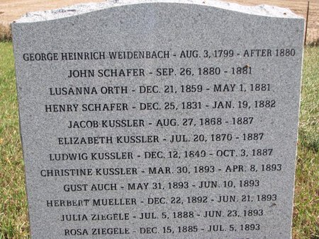 WEIDENBACH, GEORGE HEINRICH - Yankton County, South Dakota | GEORGE HEINRICH WEIDENBACH - South Dakota Gravestone Photos