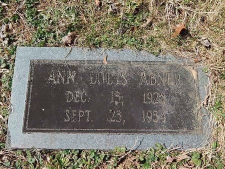 ABNER, ANN LOUIS - Anderson County, Tennessee | ANN LOUIS ABNER - Tennessee Gravestone Photos