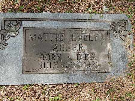 ABNER, MATTIE EVELYN - Anderson County, Tennessee   MATTIE EVELYN ABNER - Tennessee Gravestone Photos