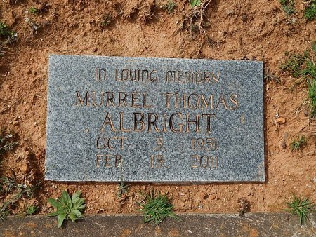 ALBRIGHT, MURREL THOMAS - Anderson County, Tennessee | MURREL THOMAS ALBRIGHT - Tennessee Gravestone Photos
