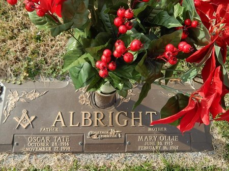 ALBRIGHT, OSCAR TATE - Anderson County, Tennessee | OSCAR TATE ALBRIGHT - Tennessee Gravestone Photos