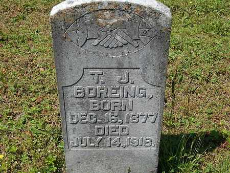 BOREING, T J - Anderson County, Tennessee | T J BOREING - Tennessee Gravestone Photos