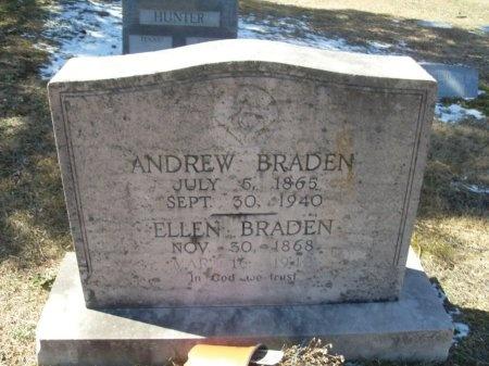 BRADEN, ELLEN - Anderson County, Tennessee | ELLEN BRADEN - Tennessee Gravestone Photos