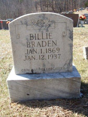 BRADEN, BILLIE - Anderson County, Tennessee | BILLIE BRADEN - Tennessee Gravestone Photos