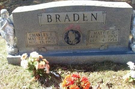 BRADEN, MATTIE - Anderson County, Tennessee | MATTIE BRADEN - Tennessee Gravestone Photos